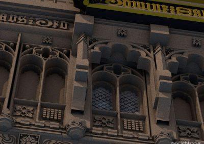 3d render c4d big ben detalle balcon