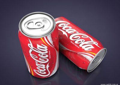 3d render c4d lata coke coca cola superior