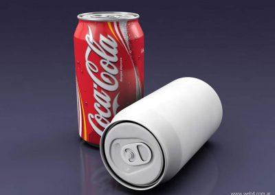 3d render c4d lata coke coca cola