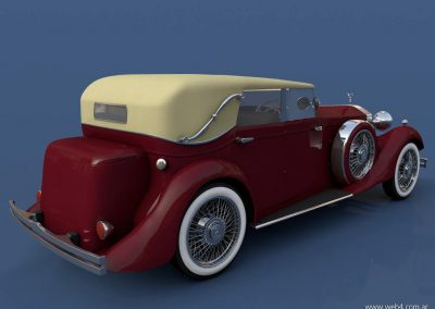 3d render c4d rolls royce back lateral