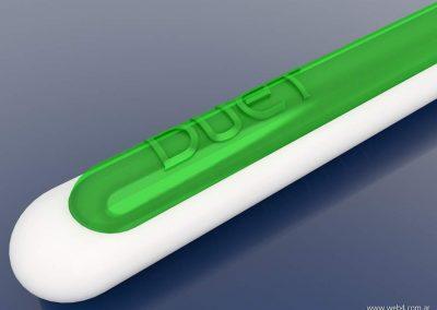 Duet - Cepillo de dientes con dosificador de gel