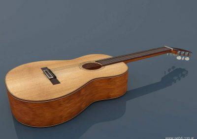3d render c4d guitarra española lateral