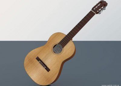 3d render c4d guitarra española