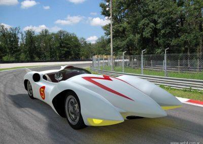3d render c4d mach 5 speed racer pista