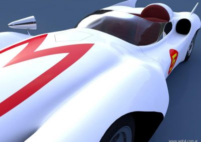 3d render c4d mach 5 speed racer