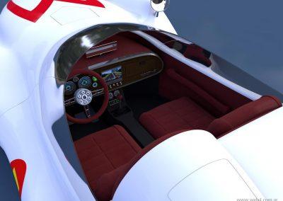 3d render c4d mach 5 speed racer interior superior