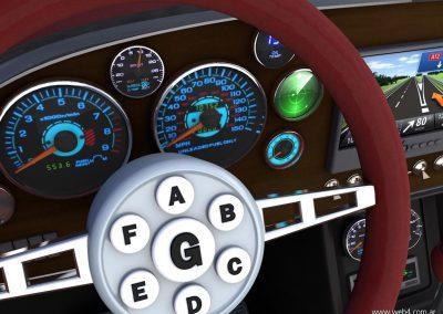 3d render c4d mach 5 speed racer detalle volante