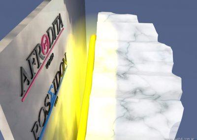 3d render c4d packaging para perfumes detalle neon