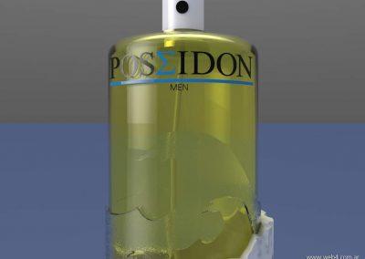 3d render c4d packaging para perfumes detalle frasco