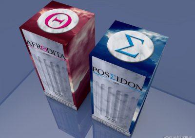 3d render c4d packaging para perfumes cajas