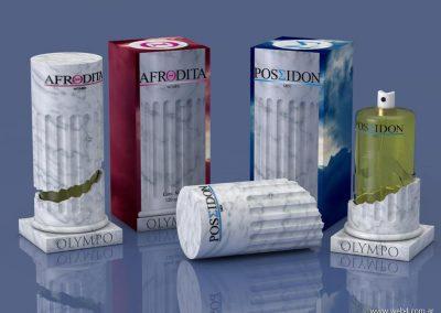 3d render c4d packaging para perfumes cajas y frascos