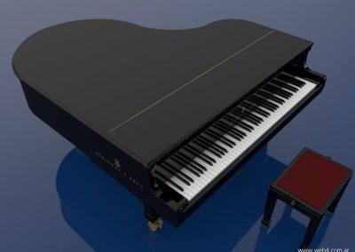 3d render c4d piano steinway superior