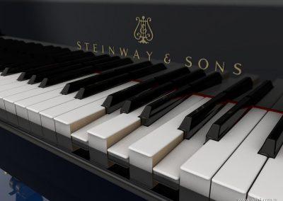 3d render c4d piano steinway acorde
