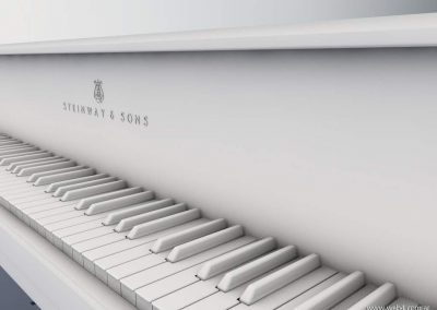 3d render c4d piano steinway sin textura