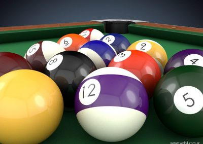 3d render c4d pool bolas detalle