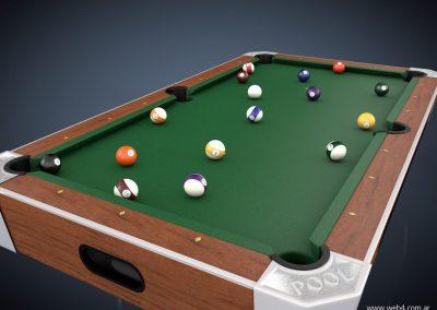 3d render c4d pool superior esquina