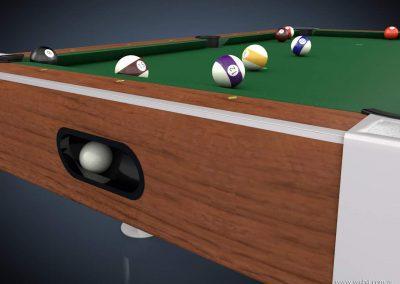 3d render c4d pool bola blanca en caja