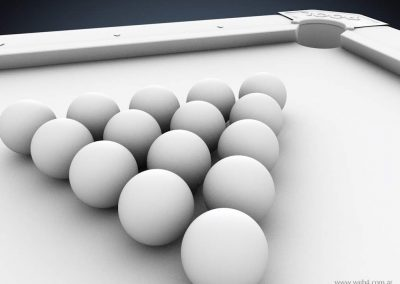 3d render c4d pool sin maerial bolas