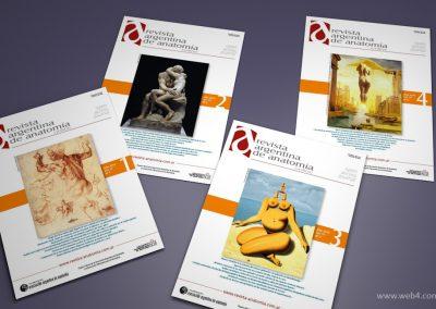 diseño portadas revista argentina de anatomia online 2015