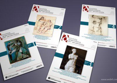 diseño portadas revista argentina de anatomia online 2016