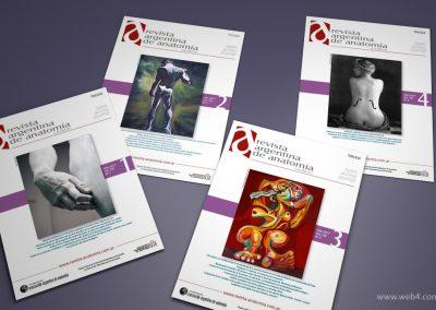 diseño portadas revista argentina de anatomia online 2017