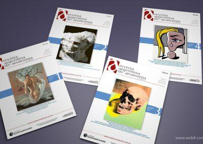 diseño portadas revista argentina de anatomia online 2018