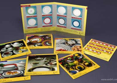 diseño catalogo de productos porcelana tsuji