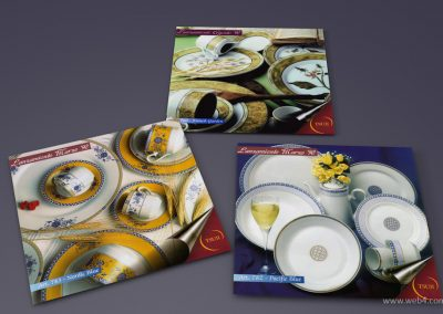 diseño folletos promocionales porcelana tsuji