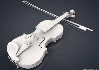 3d render c4d violin sin textura