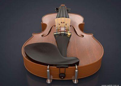 3d render c4d violin soporte