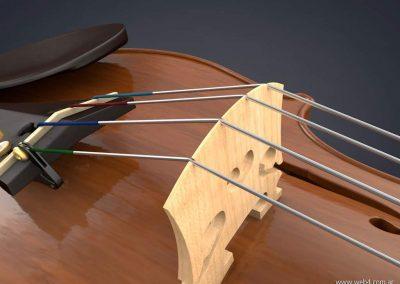 3d render c4d violin puente superior
