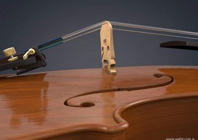 3d render c4d violin puente lateral