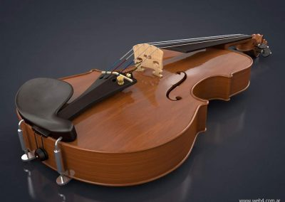 3d render c4d violin vista
