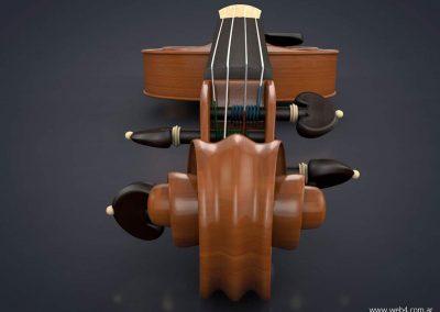 3d render c4d violin clavijero