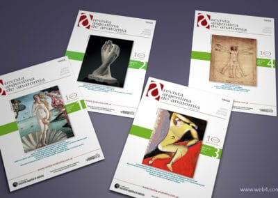 diseño portadas revista argentina de anatomia online 2019