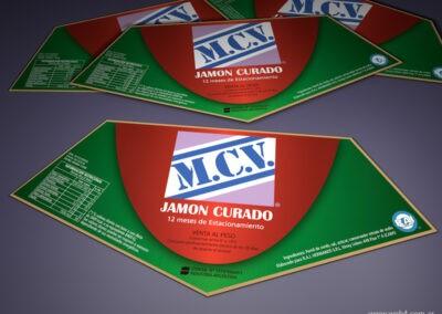 etiqueta jamon mcv