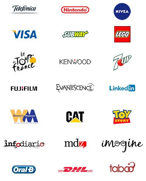 Logotipos con variaciones