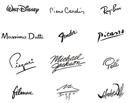 Logotipos con firmas