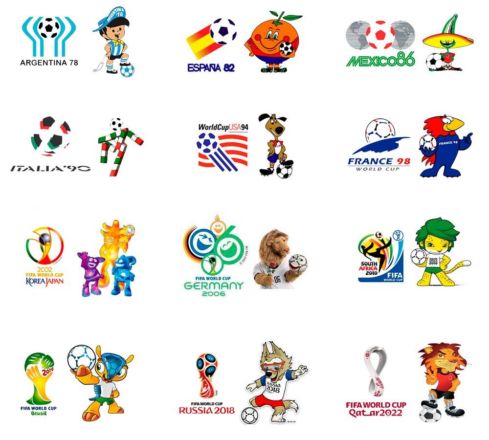 Mascot Logos FIFA World Cup
